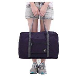 Ac.y.c Travel Duffel Bag for Women Foldable Carry On Express Weekender Organiser (Dark Blue)