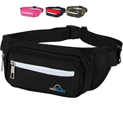 Pro Helios Fanny Pack for Men Women Waterproof Waist Bag for Outdoor Activity Traveling Hiking B ...