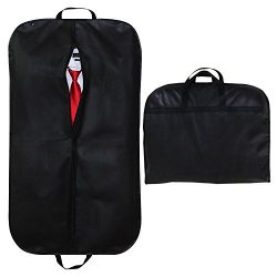 SPARKSOR 40″ Black Breathable Suit Covers Carrier Bag with Handles for Travel, Foldover Br ...