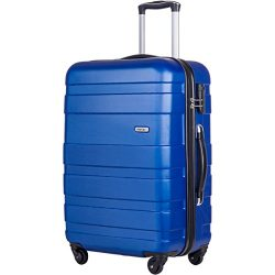 Merax Afuture 20 24 28 inch Luggage Lightweight Spinner Suitcase (20-Carry on, Blue)