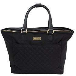 kensie Laptop and tablet and iPad 14″ Fashion Tote, Black with Gold Color Option