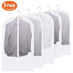 FU GLOBAL Top Quality Easy Organize Travel Cloth Bag, Set of 5 units Clear Zipped Suit Bags Zipp ...
