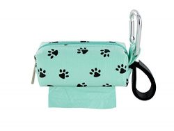 Doggie Walk Bags DB1-SEASQP Square Duffel Paw Print Bag, Seafoam