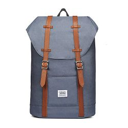 Lightweight Outdoor Backpack, KAUKKO Travel Casual Rucksack Laptop Daypack for 15″ (P61GREY)