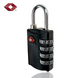 Tsa Approved Luggage Lock 4 Digit Combination TSA Padlock for Suitcase Travel Bag Backpack 1 Pac ...