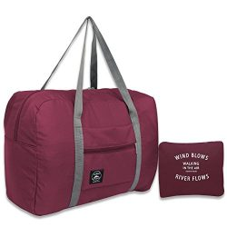 25L Travel Foldable Duffel Bag for Women & Men, Waterproof Lightweight travel Luggage bag fo ...