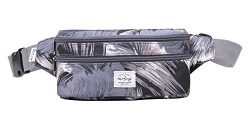 521s Fashion Waist Bag Cute Fanny Pack | 8.0″x2.5″x4.3″ | Tropical, Grey