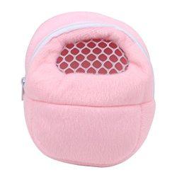 GUAngqi Pet Carrier Hamster Rat Hedgehog Small Animals Sleeping Traveling Bag,Pink