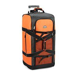 Achim Home Furnishings Imports Polaris 30″ Mega Wheeled Duffel Bag, Orange