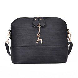 Sunyastor New Women Messenger Bags Vintage Small Shell Leather Handbag Casual Packet Shoulder Ba ...