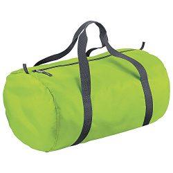 BagBase Packaway Barrel Bag / Duffel Water Resistant Travel Bag (32 Liters) (One Size) (Lime Green)