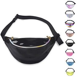 Miracu Holographic Fanny Pack, 80s Fanny Packs for Women and Men, Shiny Waist Pack Bum Bag Fashi ...