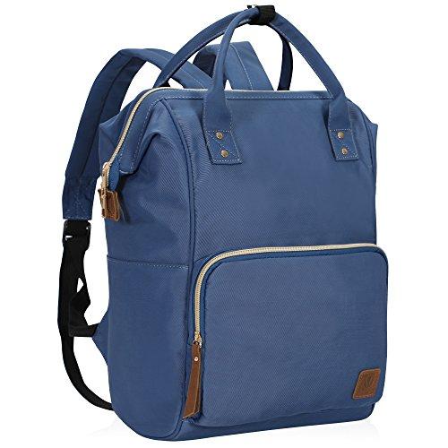 a768b46590 Veegul Wide Open Multipurpose School Backpack Lightweight Travel Bag 18L  Navy Blue