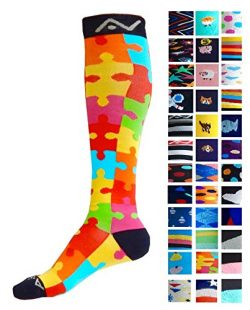 Compression Socks (1 pair) for Women & Men by A-Swift – Graduated Athletic Fit for Run ...