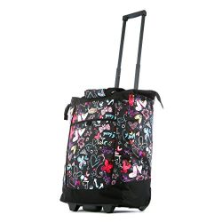 Olympia Fashion Rolling Shopper Tote – Butterfly, 2300 cu. in.