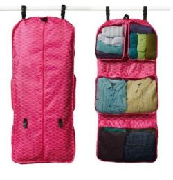 RuMe Tri-fold Garment/Clothing Travel Organizer Bag With Attached Packing Cubes For Clothes And  ...