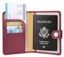 Zoppen Rfid Blocking Travel Passport Holder Cover Slim Id Card Case (#36 Royal Red (2018 New))