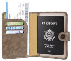 Zoppen Rfid Blocking Travel Passport Holder Cover Slim Id Card Case (#37 Coffee (2018 New))
