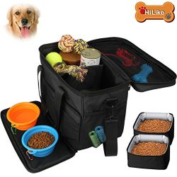 Hilike Pet Travel Bag for Dog&Cat -Weekend Tote Organizer Bag for Dogs Travel -Incudes1 * Do ...