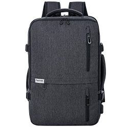 Travel Laptop Backpack 35L Flight Approved Carry On Weekender Bag Backpack expandable with USB C ...