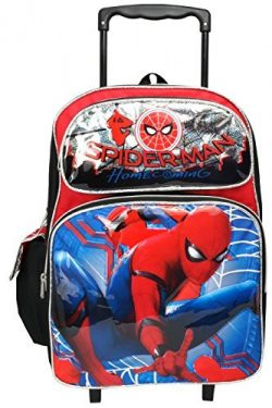 Marvel Spiderman Home Coming Large 16″ Rolling Backpack