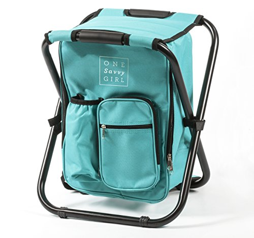 One Savvy Girl Ultralight Backpack Cooler Chair Compact
