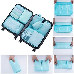 RedSonics(TM) 8Pcs/set Luggage Travel Storage Bags Packing Cubes Organizer Men and Women Fashion ...