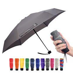 Ke.movan Travel Compact Umbrella Small Mini Umbrella for Backpack, Purse, Pocket – Fits Ad ...