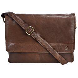 Leather Laptop Messenger Bag for men – Mens Office Briefcase Macbook Satchel Professional  ...