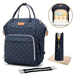 Diaper Bag Multi-Function Travel Backpack Nappy Bags, Nappy Tote Bag/Stroller Straps for Baby Ca ...