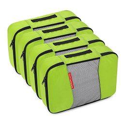 Gonex Packing Cubes Travel Organizer Cubes for Luggage 4xMedium Green