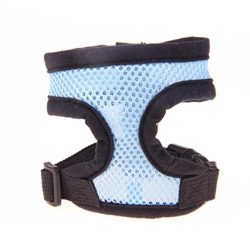 Puppy Harness,Neartime Breathable Pet Harness Adjustable Doggy Chest Strap Soft Leash Set (M, Blue)