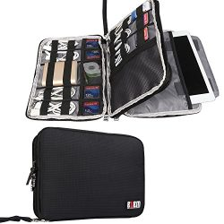 BUBM Double Layer Electronics Organizer/Travel Gadget Bag For Cables,Memory Cards,Flash Hard Dri ...