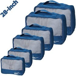 vallilan 6pc Packing Cubes Set,Travel Luggage Organizers,Thick Durable Materials