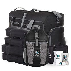 Lightweight Family Travel Luggage Set – Duffle Bag Backpack Toiletry Packing Cubes (Family ...
