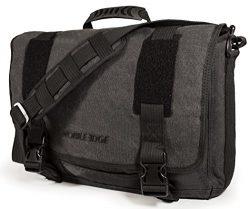 Mobile Edge MECME5 Eco-Friendly Cotton Canvas 15.6″ to 17.3″ Messenger Bag, Ash