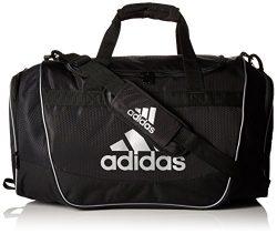 adidas Defender II Duffel Bag (Small), Black/Silver, 11.75 x 20.5 x 11-Inch