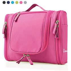 Heavy Duty Waterproof Hanging Toiletry Bag – Travel Cosmetic Makeup Bag for Women & Sh ...