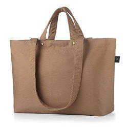 BONTHEE Canvas Tote Bag Handbag Women Large Shopper Shoulder Bag for School Travel Work –  ...
