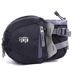 EGOGO travel sport waist pack fanny pack hiking bag with water bottle holder (Black)