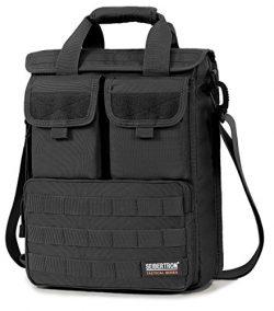 Seibertron Expandable 14″ Laptop Waterproof Messenger Bag Multiple Pockets & Compartme ...