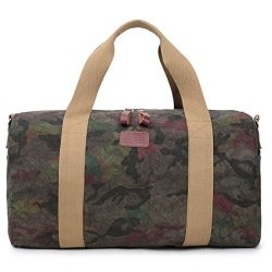 Unisex Carry-on Weekender Travel bag Canvas Overnight Duffel Tote for Business Work Gym Daily (C ...