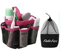 Quick Drying 8 Pockets Hanging Toiletry Makeup Cosmetic Bath Shower Organizer Storage Tote Mesh  ...