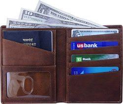 AurDo RFID Blocking Real Leather Passport Holder Cover Case & Travel Wallet for Men & Wo ...