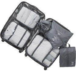 Lonew 7Set Packing Cubes, Travel Luggage Packing Organizers – Multi-functional Clothing So ...