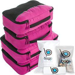 bago Packing Cubes For Travel Bags – Luggage Organizer 10pcs Set (Pink)
