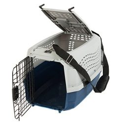 Favorite Portable Two Door Pet Carrier 23 Inch by 15.5 Inch by 13.5 Inch, Free Strap, Blue