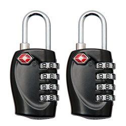 YAHEY TSA Luggage Lock,4 Digit Combination locks for School, Employee, Gym & Sports Locker,  ...