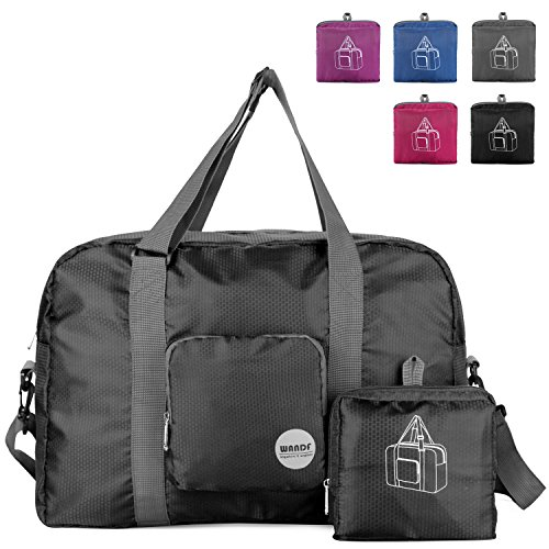 Packable Travel Duffle Bag Tote Carry on Luggage, Foldable Weekender Gym Sports Duffel Bag