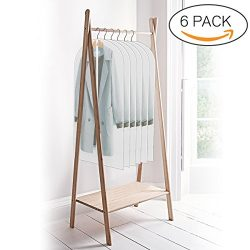 ELEGLIFE Garment Bags (6-Pack): 24''x48'' for Coats, Dresses, Suits, Gowns – Clear Storage Bags, ...